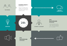 Infographics speechflat diagram with text fields. Royalty Free Stock Photography