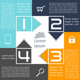 Infographics Square with Arrows Abstract Options F Stock Photo