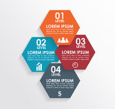 Infographics square shape elements. Can be used for workflow layout, diagram, number options, step up options, web template Royalty Free Stock Photo