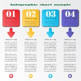Infographics squares Stock Photography
