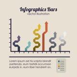Infographics-Stangen Lizenzfreies Stockbild