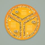 Infographics stap voor stap Universeel abstract element van grafiek, grafiek Royalty-vrije Stock Afbeelding