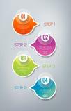 Infographics - 4 stappen Stock Afbeelding