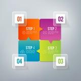 Infographics - 4 stappen Stock Foto's