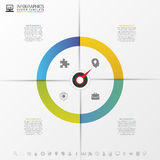 Infographics step by step with pointer. Business concept. Vector Stock Images