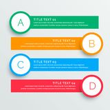Infographics steps banners template. Vector Vector Illustration