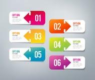 Infographics - 6 steps Stock Image