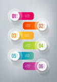 Infographics - 6 steps Royalty Free Stock Photography