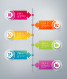 Infographics - 6 steps Stock Photography