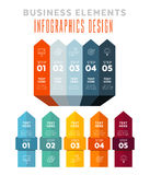 Infographics - 5 steps strategy Royalty Free Stock Photography