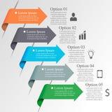 Infographics strzała szablon Obraz Stock