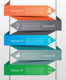 Infographics strzała szablon Zdjęcie Stock
