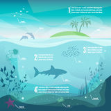 Infographics subacqueo Immagine Stock Libera da Diritti