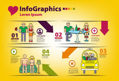 Infographics sull'argomento degli uomini Fotografie Stock Libere da Diritti