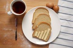 Infographics sur la table de petit déjeuner Image stock