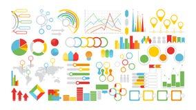 Infographics symbols set. stock illustration