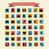 Infographics symbolssamling Royaltyfria Bilder