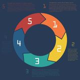 Infographics. Szablon dla biznesowej prezentaci Obrazy Stock