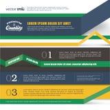 Infographics sztandaru projekt Obraz Royalty Free