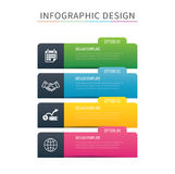 Infographics tab index 4 option template. Vector illustration ba. Ckground. Can be used for workflow layout, data, business step, banner, web design Royalty Free Stock Photo