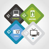 Infographics technological Stock Image