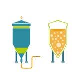 Infographics-Technologie der Bierherstellung Stockfotos