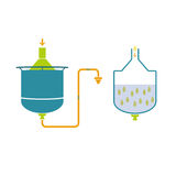 Infographics-Technologie der Bierherstellung Stockbilder