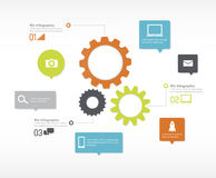 Infographics technology camera mails concept Royalty Free Stock Images