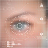 Infographics technology  Human eye blurred effect  Royalty Free Stock Photography