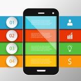 Infographics telefonu komórkowego dane Obraz Stock