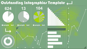 Infographics template. For your business Royalty Free Stock Image
