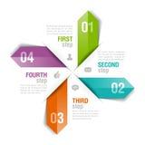 Infographics Template Arrows Stock Photo