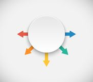 Infographics template with arrows and 3D circle Stock Image