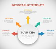 Infographics template with arrows and 3D circle Royalty Free Stock Photo
