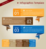 Infographics Template. For Business Presentation or for Web Presentations. Vector EPS version 8 Stock Photo