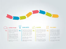 Infographics template. Color arrows with text fields. Stock Photography