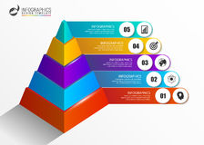 Infographics template. Colorful pyramid concept with options Royalty Free Stock Photos