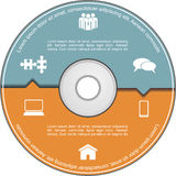 Infographics template with compact disk. Vector Stock Photo
