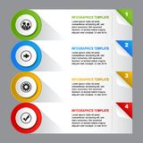 Infographics template design. Infographics template web design presentation - vector illustration on gray background Royalty Free Stock Photo