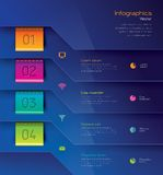 Infographics template design. Stock Photo