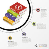Infographics template. Education concept with books. Vector Stock Photo