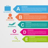 Infographics template in the form of ribbons. Royalty Free Stock Photos