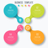 Infographics template four options with circle Royalty Free Stock Image