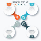 Infographics template four options with circle Royalty Free Stock Photo
