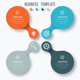 Infographics template four options with circle Royalty Free Stock Photos