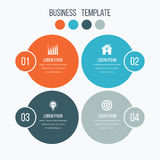 Infographics template four options with circle Royalty Free Stock Images
