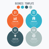 Infographics template four options with circle Stock Photography