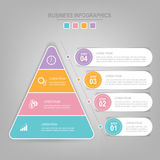 Infographics template of four steps on squares. Tag banner element, work sheet, flat design of business icon, pastel vector Royalty Free Stock Images