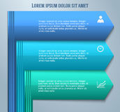 Infographics-template-layout-leaflet-presentation01 Image stock