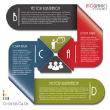 Infographics template with letters and numbers. Stock Photography